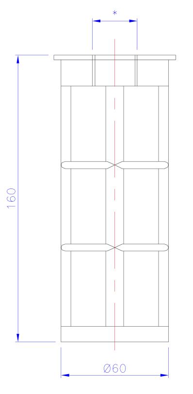 Dimensioni Filtro Tubolare